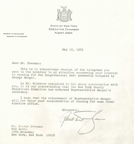 Congressional Seat Letter