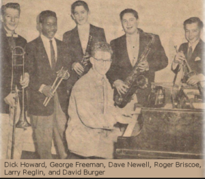 The six saints orchestra, made up of Lewis and Clark High School students, including George Freeman on drums.