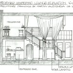 Drawing of the proposed Casablanca Jazz Lounge