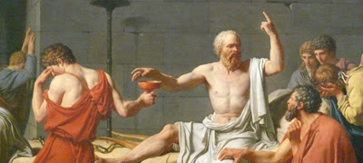 Socrates speaking the night of his death